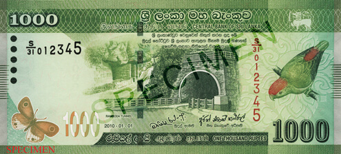 LKR 1000 note - Sri Lanka