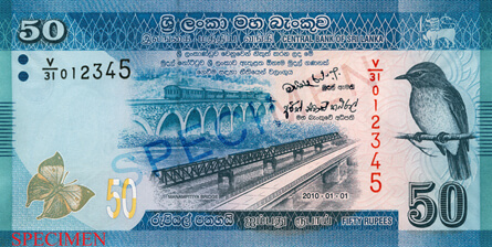 LKR 50 note - Sri Lanka